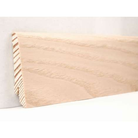 Фото - Плинтус деревянный шпонированный Kluchuk Евро Ясень выбеленный 60х18х2400 Светло коричневый KLE6005