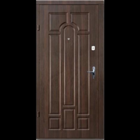 Фото - Входная дверь Премиум Классик Улица орех коньячный