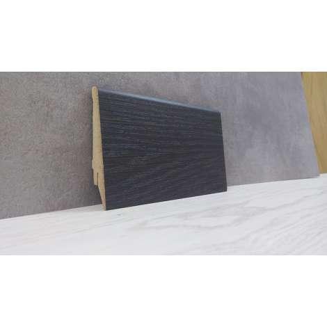 Фото - Плинтус Супер Профиль Венге 2800x80x16 Темно коричневый 1682v