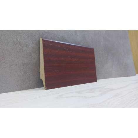 Фото - Плинтус Супер Профиль Махонь 2800x80x16 Темно рыжий 1682m