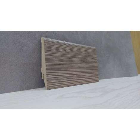 Фото - Плинтус Супер Профиль Модрина 2800x80x16 Серо коричневый 1682mod