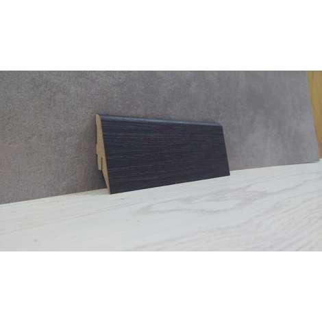 Фото - Плинтус Супер Профиль Венге 2800x55x19 Темно коричневый 1255v
