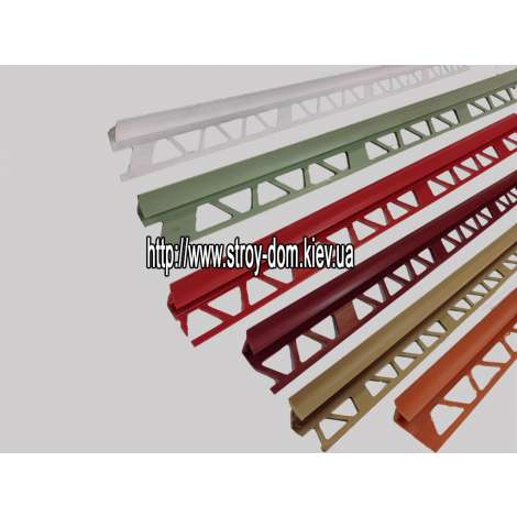 Фото - Профиль для кафельной плитки, красный, внутр.9-10мм