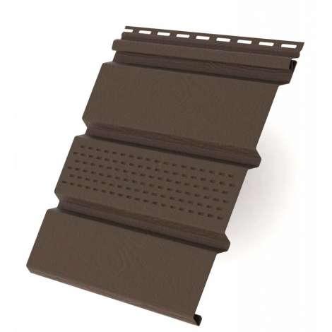 Фото - Виниловый софит RAINWAY коричневый с перфорацией