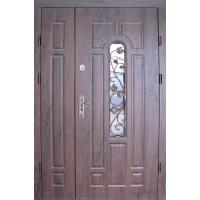 Картинка - Входная дверь REDFORT Арка улица с притвором + ковка (Оптима плюс)