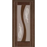 Картинка - Дверь межкомнатная модель 15 (глухая/остекленная) венге Terminus