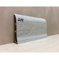 Картинка - Плинтус Идеал Элит Макси высота 85 мм дуб серый глянцевый 214