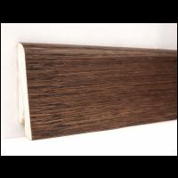 Картинка - Плинтус деревянный шпонированный Kluchuk Евро Дуб браун 60х18х2400 Коричневый KLE6013