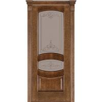 Картинка - Дверь межкомнатная модель 50 (глухая/остекленная) дуб браун Terminus