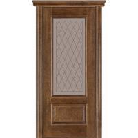 Картинка - Дверь межкомнатная модель 52 (глухая/остекленная) дуб браун Terminus