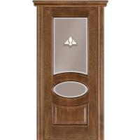 Картинка - Дверь межкомнатная модель 55 (глухая/остекленная) дуб браун Terminus