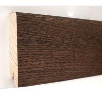 Картинка - Плинтус деревянный шпонированный Kluchuk Модерн Дуб Какао 80х18х2400 Коричневый KLM8010
