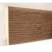 Картинка - Плинтус деревянный шпонированный Kluchuk Модерн Дуб Мокка 80х18х2400 Коричневый KLM8009