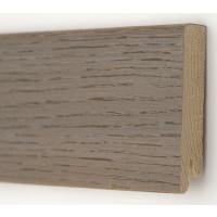Картинка - Плинтус деревянный шпонированный Kluchuk Модерн Дуб Полярный 80х18х2400 Серый KLM8014