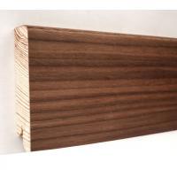 Картинка - Плинтус деревянный шпонированный Kluchuk Модерн Орех американский 80х18х2400 Коричневый KLM8006