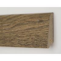 Картинка - Плинтус деревянный шпонированный Kluchuk Рустик Дуб античный 60х19х2200 Коричневый KLR6009