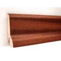 Плинтус деревянный шпонированный Kluchuk Классика Сапели 60х21х2400 Коричневый KLK6007