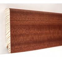 Картинка - Плинтус деревянный шпонированный Kluchuk Модерн Сапели 80х18х2400 Коричневый KLM8007