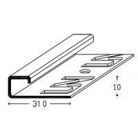 Картинка - Профиль для плинтки и других нап. покр. Luciano UnyDECO 31x10x2700 мм Алюминий