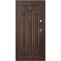 Картинка - Входная дверь Премиум Классик Улица орех коньячный