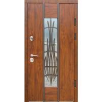 Картинка - Входная дверь REDFORT Авеню стеклопакет + ковка (Эталон)