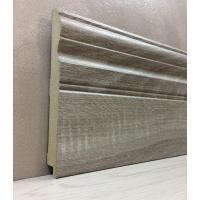Картинка - Плинтус Супер Профиль Дуб Сонома Серая 2800x144x16 Серый 16145dss