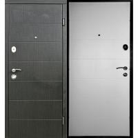 Входная дверь REDFORT Элегант Венге темный горизонт/Белое дерево (Стандарт плюс гнутый профиль)