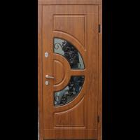Входная дверь ФОРТ Премиум Греция стеклопакет 860 Улица дуб темный