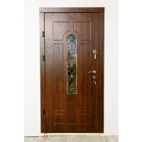 Картинка - Входная дверь REDFORT Арка дуб медовый+ковка№4 (Премиум)