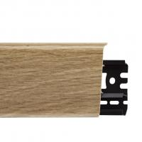 Картинка - Плинтус Arbiton INDO, Дуб Бурбон №10 70x26x2500 Светло-коричневый INDO-10