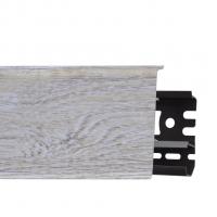 Картинка - Плинтус Arbiton INDO, Дуб Пасадена №138 70x26x2500 Светло-серый INDO-138
