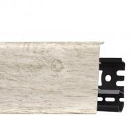 Картинка - Плинтус Arbiton INDO, Дуб Сельма №137 70x26x2500 Светло-серый INDO-137