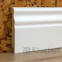 Картинка - Плинтус деревянный шпонированный Kluchuk MDF Белая Волна 100х12х2000 Белый MDFV100