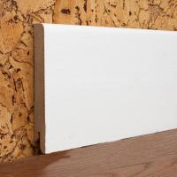Картинка - Плинтус деревянный шпонированный Kluchuk MDF Шпон Модерн 100х12х2000 Белый MDF100