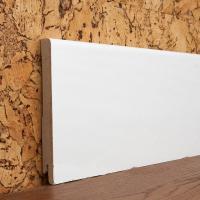 Картинка - Плинтус деревянный шпонированный Kluchuk MDF Шпон Модерн 120х12х2000 Белый MDF120
