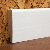 Картинка - Плинтус деревянный шпонированный Kluchuk MDF Шпон Модерн 60х12х2000 Белый MDF60