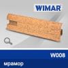 Фото - Плинтус WIMAR 55мм с кабель-каналом матовый, W008 мрамор -  №2