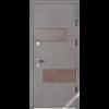 Фото - Входная дверь Страж Вулкан венге серый горизонтальный -  №2