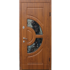 Фото - Входная дверь ФОРТ Премиум Греция стеклопакет 960 Улица дуб темный  -  №2