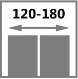 стандартная двустворчатая дверь