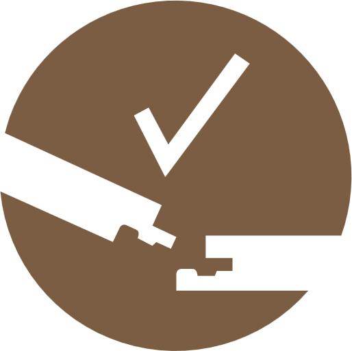 Запатентованный замкового механизма Safe-Lock® PRO позволяет доскам легко защелкнуться, что позволяет быстро и легко соединить их вместе.